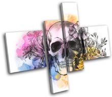Tattoo Skull Grunge Floral Graffiti - 13-0131(00B)-MP20-LO